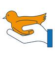 dove bird icon vector image vector image