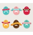 Easter vintage hipster eggs vector image