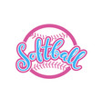 emblem of softball vector image