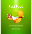 fast food poster of isometric color design vector image vector image