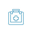 first aid kit linear icon concept first aid kit vector image vector image