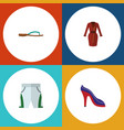 flat icon garment set of heeled shoe trunks cloth vector image vector image