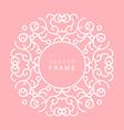 Floral Frame Line Art Design Template vector image vector image