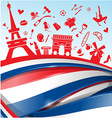france background vector image vector image