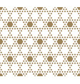 golden honeycomb pattern abstract geometric vector image vector image