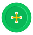 green sewing button icon isolated vector image vector image