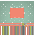 greeting retro design card vector image vector image
