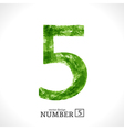 Grunge Number 5 vector image vector image