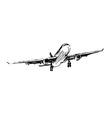 Hand sketch plane vector image vector image
