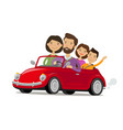 happy family travelling car journey travel vector image