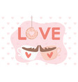 happy valentines day inscription love donut vector image