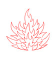 hell heat blazing inferno bonfire with fire flame vector image vector image