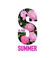 hello summer floral design with blooming peony vector image vector image