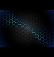 hexagonal pattern on blue magma background vector image