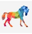 Horse geometric shapes vector image vector image