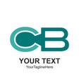 initial letter cb logo design template element vector image vector image