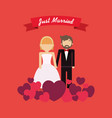 just married couple design vector image