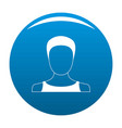 man user icon blue vector image vector image