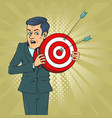 man with target vector image vector image