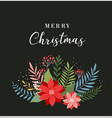 merry christmas greeting card banner vector image