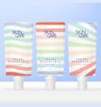mini travel essential toiletries screw cap vector image vector image