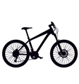 mountain bike hardtail vector image