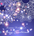 New Year greeting card Circle lace hand-drawn vector image