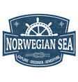 norwegian sea sign or stamp vector image