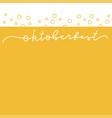 oktoberfest minimalistic banner vector image vector image