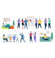 people characters set isolated on white background vector image vector image