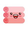 pile towels kawaii character vector image