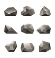 Polygon stone or poly rocks set vector image vector image