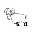 ram farm animal isolated horned sheep beast vector image