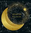 ramadan kareem gold and black marble template vector image vector image