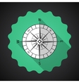 Retro Navigation Compas Flat Icon with long shadow vector image vector image