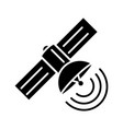 satellite icon black sign on vector image