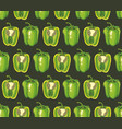 seamless pattern with hand-drawn peppers texture vector image
