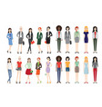 set of working people standing vector image