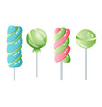 set sweets on white background - hard candy vector image