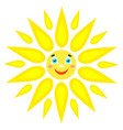 smiling sun with rays of different shapes icon on vector image vector image