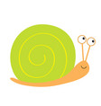 snail icon green shell cute cartoon kawaii funny vector image vector image