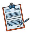 stationery corporate cartoon vector image