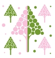 Stylized tree icon vector image vector image