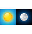 sun and moon vector image vector image