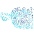 tea time background doodle vector image vector image