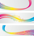 Three abstract banners vector image vector image