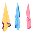 towels on hooks bathroom textile objects hygiene