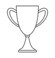 trophy cup championship symbol in black and white vector image vector image
