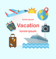 vacation colorful flat poster vector image
