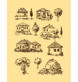 village houses Sketch style vector image vector image
